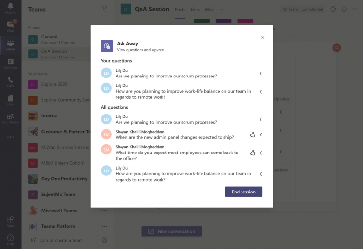 Microsoft Apps Ask Away